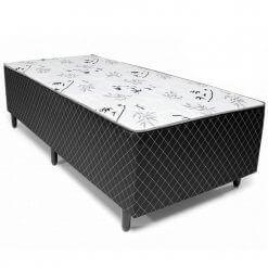 Cama Box de Solteiro Conjugada Espuma Ortopédica Unibox 88×188