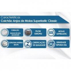 Colchao Anjos Molas Superlastic Classic Caracteristicas