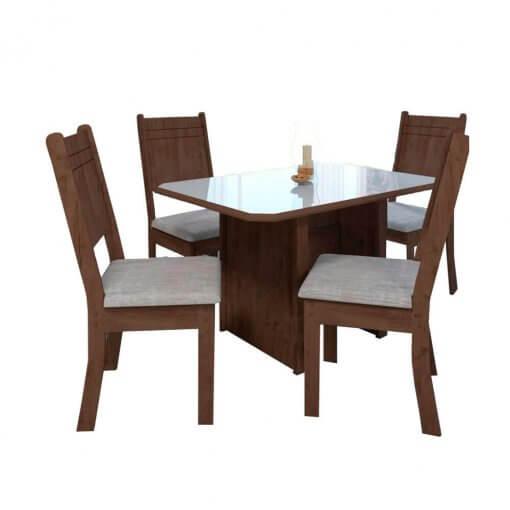 Conjunto Mesa de Jantar com 4 Cadeiras New Charm - Indekes