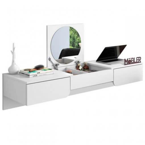 Penteadeira-Escrivaninha-Suspensa-Elegance-Fosco-Mobler