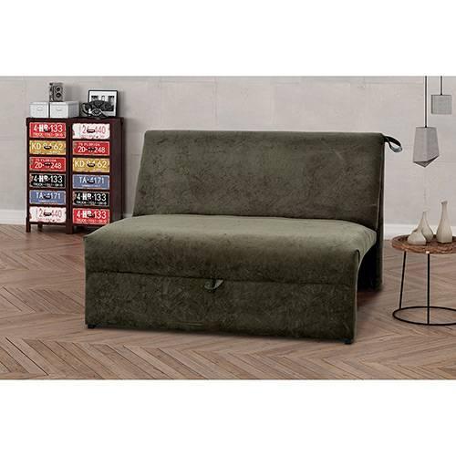 Sofa Cama 2 Lugares Suede Malu Matrix Marrom