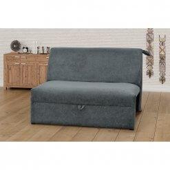 Sofa Cama Malu 2 Lugares Tecido Suede Matrix cinza ambiente