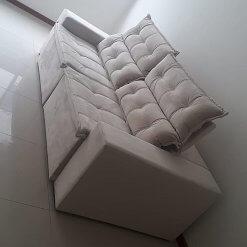 Sofa Carioca Retratil E Reclinavel 4 Lugares 230cm Tecido Suede Foto Real