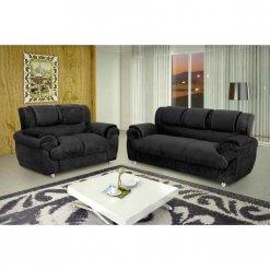 Sofa Conjunto com 2 e 3 Lugares Jogo em Tecido Suede 7025