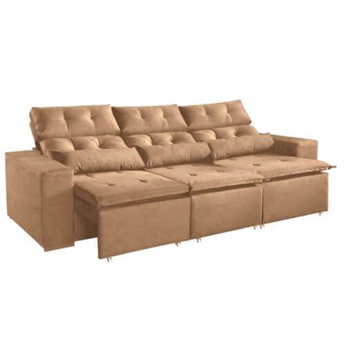 Sofa-Montreal-265cm-Retratil-e-Reclinavel-Tecido-Suede-Bege
