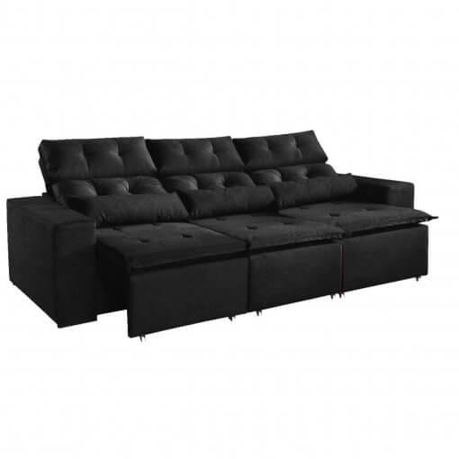 Sofa-Montreal-265cm-Retratil-e-Reclinavel-Tecido-Suede-Preto