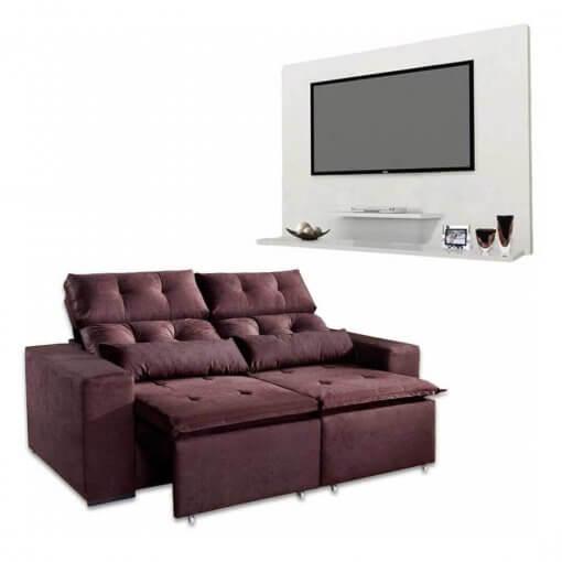 Sofa-Retratil-e-Reclinavel-Uba-2m-Painel-DON-Para-TV-ata-42-Polegadas