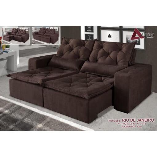 Sofa-Rio-de-Janeiro-Retratil-e-Reclinavel-de-2-Modulos-MARROM