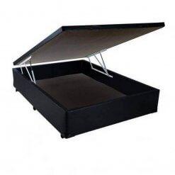Base Box Bau Casal Corino 36x138x188 Preta