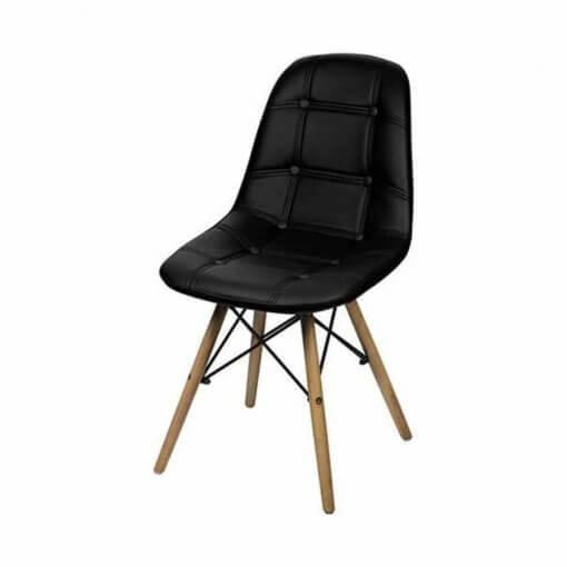 Cadeira Estofada Slim Eiffel Notavel Moveis Branca Preta