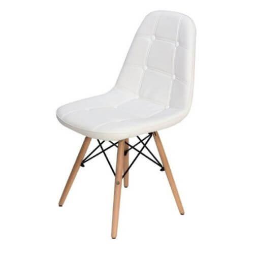 Cadeira Estofada Slim Eiffel Notavel Moveis Branca