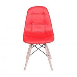 Cadeira Estofada Slim Eiffel Notavel Moveis Vermelha