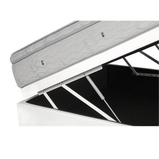 Cama Box Com Bau Casal Colchao De Molas Ensacadas Ortobom Freedom 138cm Detalhe