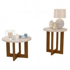 Conjunto De Mesa Decorativo Jb 8001 8002 Perola Jb Bechara