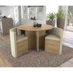 Conjunto Mesa Redonda Kappesberg Nira 4 Cadeiras