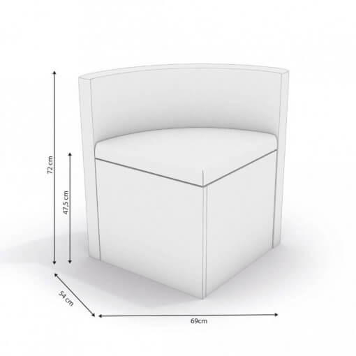 Conjunto Mesa Redonda Kappesberg Nira 4 Cadeiras Walnut Grafiato medidas