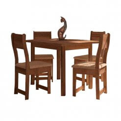 Conjunto de Mesa 4 Cadeiras Dallas Nocce Plus Indekes