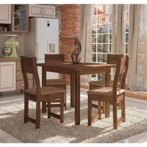 Conjunto de Mesa 4 Cadeiras Dallas Plus Indekes