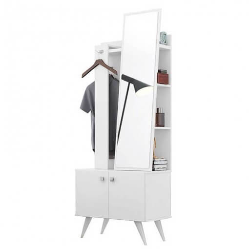Criado Mudo Toucador 2 Portas Solaris Lukaliam Moveis Branco