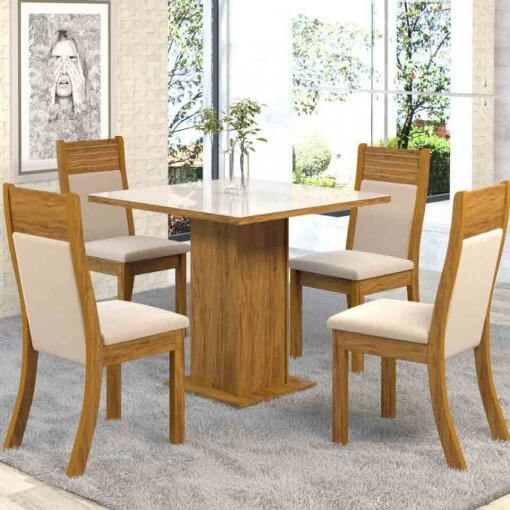 Mesa Jantar 4 cadeiras Lari Viero Moveis