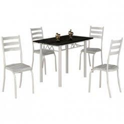 Mesa Laura Com Tampo de Granito E 4 cadeiras Medida 100×60cm