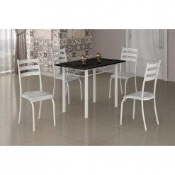 Mesa Laura Com Tampo de Granito com 4 cadeiras Medida 100×60cm