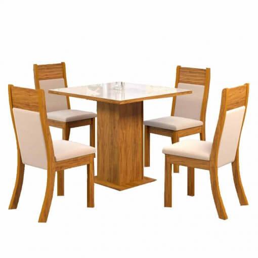 Mesa de Jantar 4 cadeiras Lari Viero Moveis