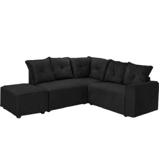 Sofa-de-Canto-5-Lugares-5040-Puff-Grande-Preto