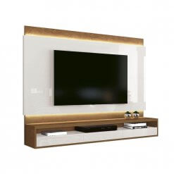Painel para TV Savoy Off White com Naturale EDN Moveis