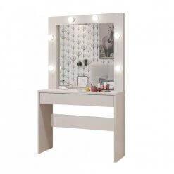 Penteadeira Camarim com Espelho Romance Mavaular branca