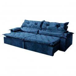 Sofa Agatha Retratil e Reclinavel 250cm Montano azul