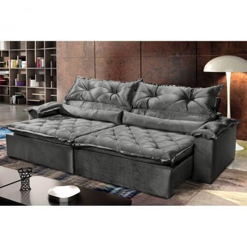 Sofa-Retratil-Reclinavel-Agatha-Montano-4-Lugares-Cinza-Ambiente