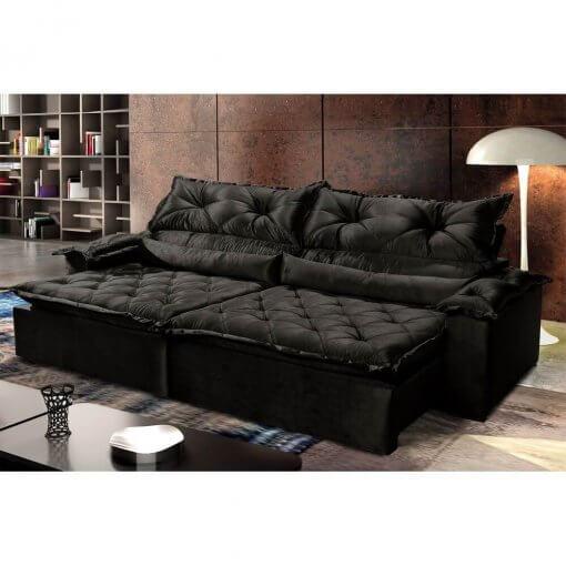 Sofa-Retratil-Reclinavel-Agatha-Montano-4-Lugares-Preto-Ambiente