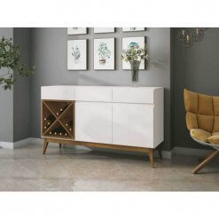 Buffet Aparador com Adega Chandon Off White com Naturale EDN