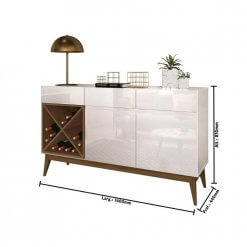 Buffet Aparador com Adega Chandon Off White com Naturale EDN Moveis medidas