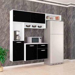 Cozinha Suspensa Thais 3 PeCas Poquema branco e preto