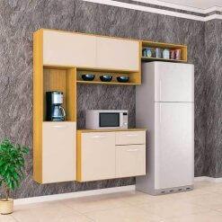 Cozinha Suspensa Thais 3 PeCas Poquema damasco off white