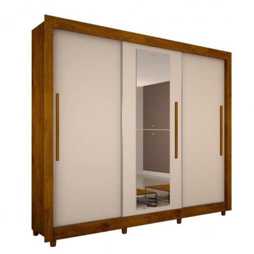 Guarda Roupa Casal Tokio 3 Portas Com Espelho Salleto