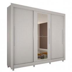 Guarda Roupa Casal Tokio 3 Portas Com Espelho Salleto branco