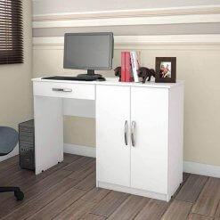 Mesa Escrivaninha Para Estudo Link Benetil Moveis branca