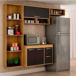 Cozinha 3 Portas 2 Gavetas Esmeralda