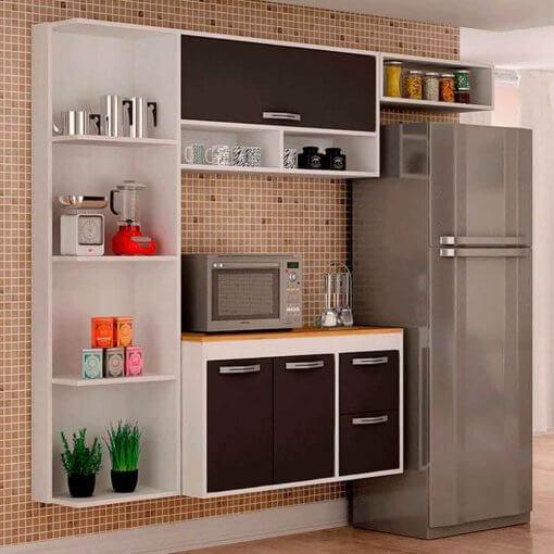 Cozinha 3 Portas 2 Gavetas Esmeralda Salleto