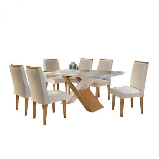 Mesa de Jantar Imperatriz 6 cadeiras