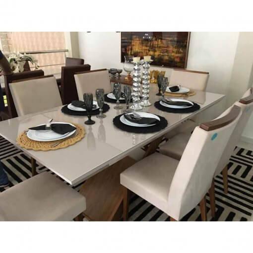 Mesa de Jantar Imperatriz 6 cadeiras real