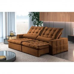 Sofa Amsterdan Retratil e Reclinavel 250cm cobre