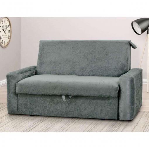 Sofa Cama com Bau Daiane Tecido Suede