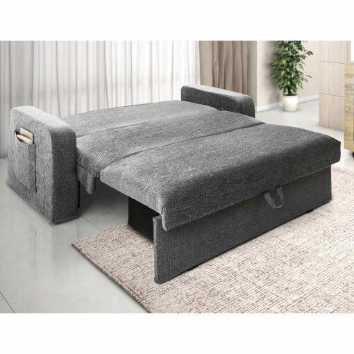 sofa cama com bau daiane aberto