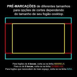 Balcao para Cozinha Cooktop 2 Portas 1 Gaveta 407 Benetil Moveis Medidas Para Corte