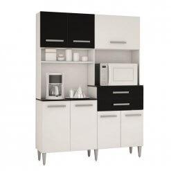 Cozinha Compacta Flavia com 7 Portas e 2 Gavetas