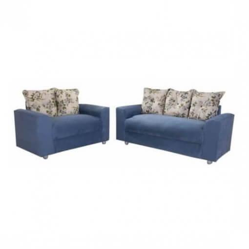 Sofa 2 e 3 lugares Lisboa com Almofadas Azul
